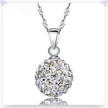 Colar de cristal jóias de moda 925 jóias de prata esterlina (NC0074)