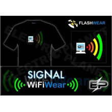 [Super Deal] Wholesal 2009 moda quente venda T-shirt A19, el t-shirt, camisa led