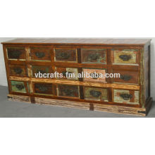 Recycle Wood Chest Drawer Cabinet