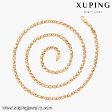 43533 Bijoux en or saoudien vente chaude mode délicat 18k collier de bijoux en alliage de cuivre