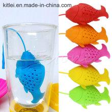 Unique Cute Tea Strainer, Silicone Fish Shape Tea Infuser Filter Teapot Teabag for Tea & Coffee Drinkware