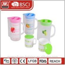 chaleira de água plástico 1.4Lwith 2 copos