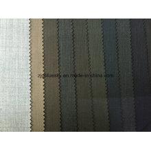 Tissu en laine de rayures en stock prêt