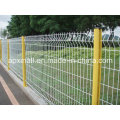 Ral Colors 3V PVC Coated Welded Wire Mesh Fence Post 50*200mm