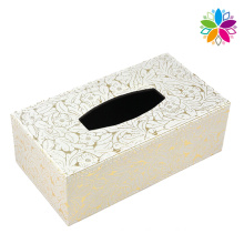 Fashionable Rectangle Leather Tissue Box (ZJH055)