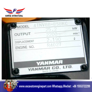 4TNV88 Yanmar Diesle Engine for Sunward Excavator