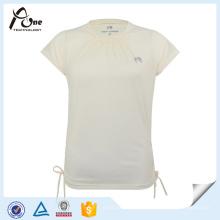 O algodão feito sob encomenda da cópia da senhora da forma t-shirt liso da alta qualidade dos esportes