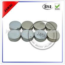 Ímãs redondos de prata