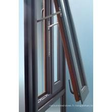 Fenêtre inclinée et tournante en aluminium à double vitre