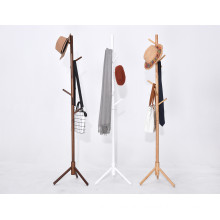 High Grade Free Standing Rustic Wooden Tree Coat Rack Stand For Living Room