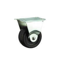 Rubber Light Duty Castors, Rigid
