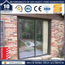 Порошковое покрытие алюминиевых дверей с выдвижным стеклом