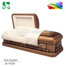JS-ST447 trade assurance supplier reasonable price brown gold 22G caskets