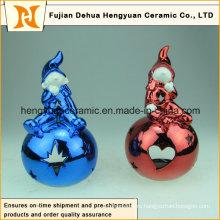 Прекрасный цветной Electroplate Girl лампа-дымоход, светодиодное домашнее украшение