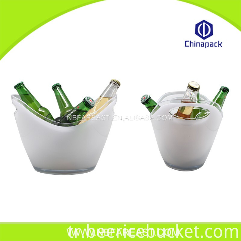 New design plastic round ice bucket