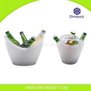 portable custom eco-friendly bar plastic ice bucket