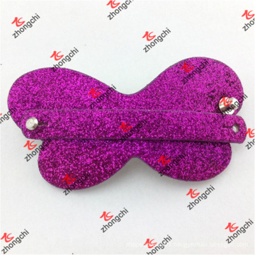 Fashion Leather Hair Clip with Slide Strap (HCS50828)