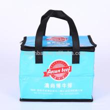 Reutilizable de gran tamaño plegable laminación no tejida bolsa aislante nevera refrigerador para aperitivos, picnic, promoción, tienda de comestibles