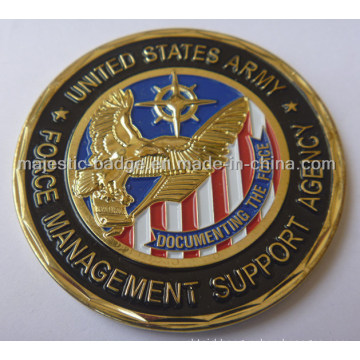 Soft Enamel Spur Cut Military Coin