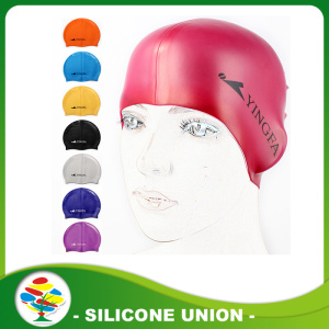 Multicolor Printed Waterproof Silicone Swimming Cap