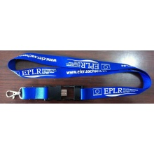 Polyester Material Personalized Logo USB Lanyard