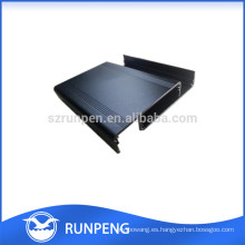 Disipador térmico del perfil de la carcasa de aluminio