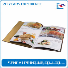 Gloss finishing photo album soft cover magazine catalog book printing for japanese restaurant menu
