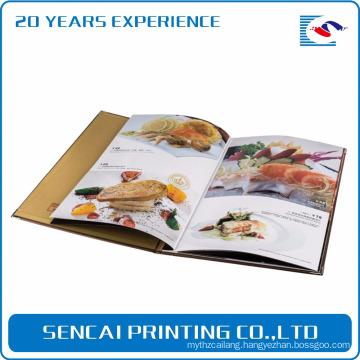 Gloss finishing photo album soft cover magazine catalog book printing for japanese restaurant menu