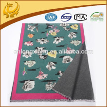 Impressão no lado frontal Tassels para mulheres Wrap Shawl Scarves Cooton Viscose Shawl