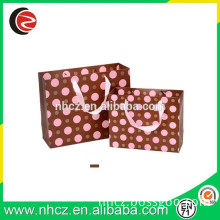 Red Dot Printed Paper Bag