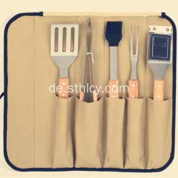 Hand in Hand mit Stofftasche Barbecue Tools