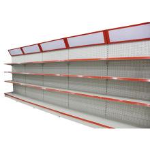Estante lateral individual de supermercado con caja de luz (YD-X8)