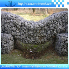 Reverse Twisted Gabion malla de alambre Mantener fuera de la pared de polvo