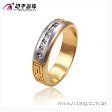 Nuevo diseño Xuping Moda de una sola fila de diamantes anillo masculino con Multicolor