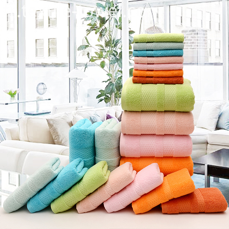 Plain Color Towel Set