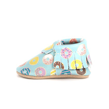 Sweat Donuts Pattern Moccasins Soft Baby Shoes