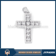 china custom jewelry pure 925 sterling silver cross pendant design for boys