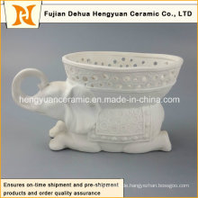 Factory Direct Verkauf, Keramik Elefanten Form Blumen Vase (Home Decoration)