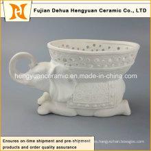 Venta directa de la fábrica, elefante de cerámica florece el florero (decoración casera)