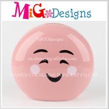 Novos produtos Cute Smile Face Designed Ceramic Piggy Bank
