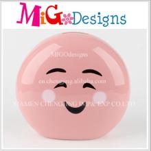 Новые продукты Cute Smile Face Designed Ceramic Piggy Bank