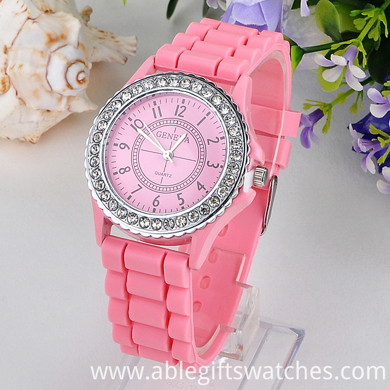 geneva silicone quartz watch