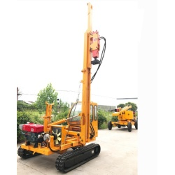 Photovoltaic Pile Driver with Crawler