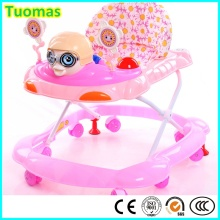 Top Quality New PP 8 plástico rodas Baby Walker com freios