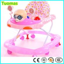Top Quality Nuevo PP 8 ruedas de plástico Baby Walker con frenos