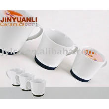 coffee cup with silicone base