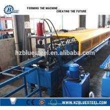 Máquina de moldagem de rolo de calha de telhado de aço, máquina de moldagem de calha de metal de alta qualidade Máquina de moldagem de rolo frio Downspouts