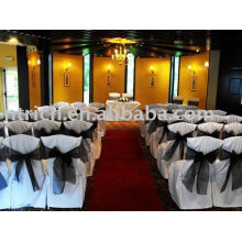 100%polyester Chair Cover, Hotel/Banquet/Wedding Chair Cover, Organza Sash