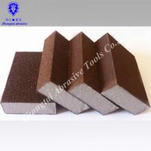 Bloc d'éponge de ponçage abrasif à grain fin / moyen pour la couture des carreaux
