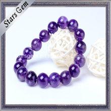 Perles naturelles d'améthyste de haute qualité avec trou